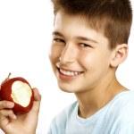 Boy eat apple — Stock Photo #11950422