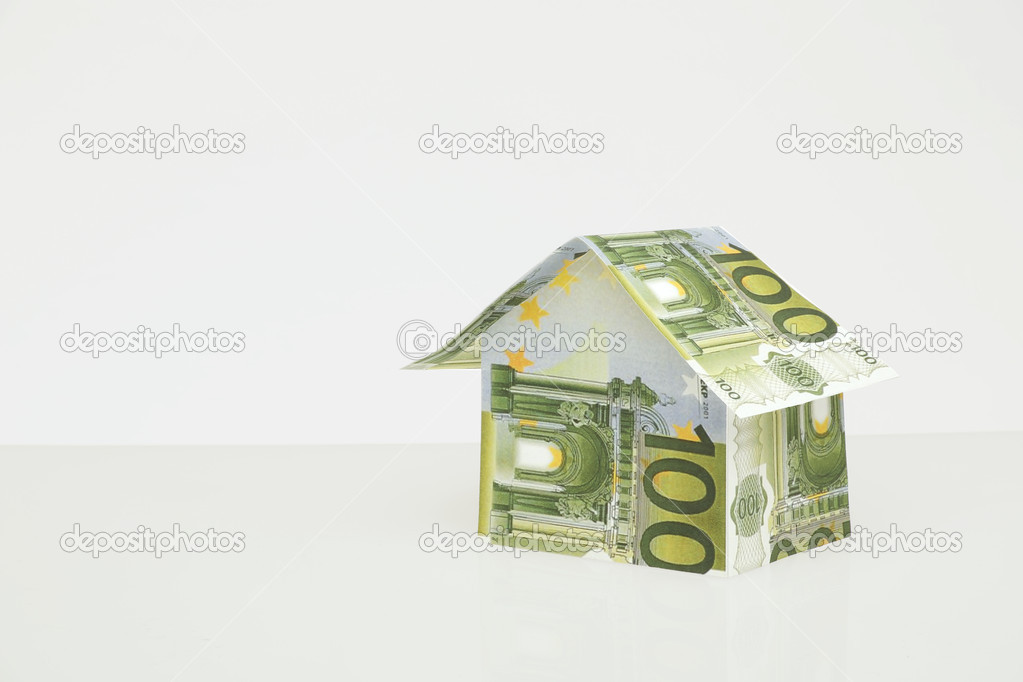 Home build of money on neutal background — Stock Photo #11951232