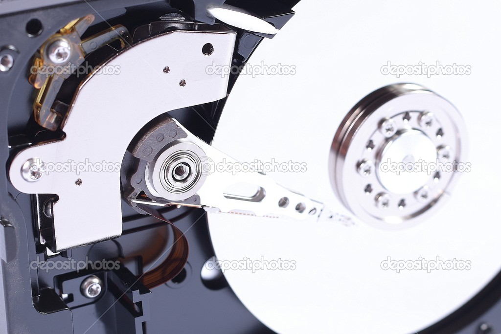 Open hard disk white background — Stock Photo #11983422