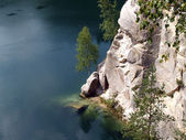 The Mountain Lake in the Adrspach Rocks, the Czech Republic — Stock Photo