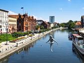 Bydgoszcz - the Brda river — Stock Photo