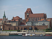 Torun upon Vistula river — Foto de Stock