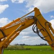 Hydraulic excavator — Stock Photo