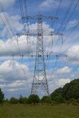 High voltage mast — Stock Photo
