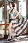 The girl in beautiful dress — Stock Photo