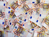 Several tickets 50 euros — Stock Photo