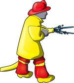 Feuerwehrmann — Stockvektor