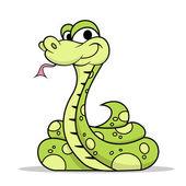 Green Poison Snake — Stock Vector