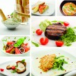 Collage from Photographs of Hot Meat Dishes - Lizenzfreies Foto