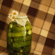 Royalty-Free Stock Photo: Pickles with daisies