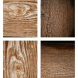 Different wood textures set. — Stock Photo #12032496