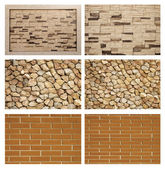 Brick texture set — Stock Photo