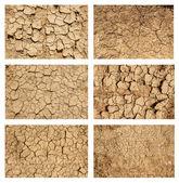 Ground textures set — Stock Photo