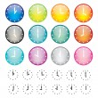 Set of watches sphere icons — Stockvektor #12048887