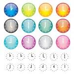 ensemble d'icônes de sphère de montres — Vecteur