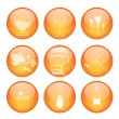 Set of winery sphere icons — Stock Vector #12048901