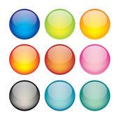 Sada ikon síťových koule — Stock vektor