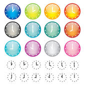 Set of watches sphere icons — Stock Vector