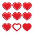 Set of hearts — Stock Vector #12090291
