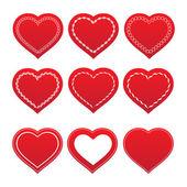 Zestaw serc — Wektor stockowy