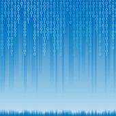 Fondo abstracto código binario — Vector de stock