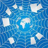 Web azul — Vector de stock