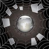 Black web. — Stock Vector