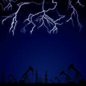 Uderzenia pioruna. — Wektor stockowy