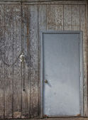 Distressed Wall and Door Backdrop — Stock Photo