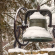 Snow Covered Town Bell — Stock Photo