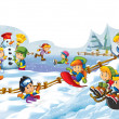 Winter fun kids — Stock Photo #11978157