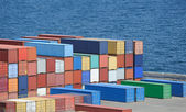Container warehouse — Stock Photo