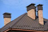 строительство новой крыши — Стоковое фото