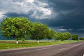 Dramatic road landscape — Stock Photo