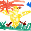 Stock Photo: Children's drawing water color paints