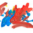 Abstract drawing water colour paints — Stock Photo