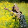 Stock Photo: Woman in nature