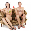 Stock Photo: Naked couple seduction