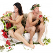 Naked couple problems — Stock Photo #11982427