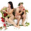 Naked couple problems — Stock Photo