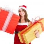 Christmas woman gift — Stock Photo