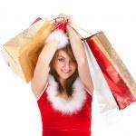 Christmas woman shopping — Stock Photo