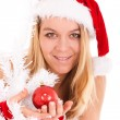 Chrsitmas woman — Stock Photo