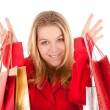 Woman shopping portrait — Stockfoto