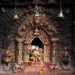 Hindu sacred altar - Stock Photo