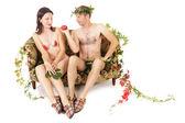 Man seducing woman — Stock Photo