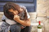 Junge frau betrunken — Stockfoto