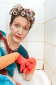 Woman cleaner — Stock Photo