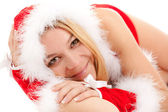Glamour santa woman — Stock Photo