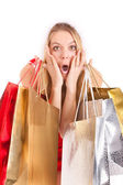 Christmas woman shopping — Stock Photo